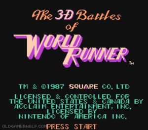 3-D Battles of World Runner, The (NES) - Online Game ...
