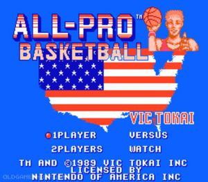 Thumbnail image of game All-Pro Basketball Jap