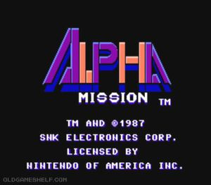Thumbnail image of game Alpha Mission