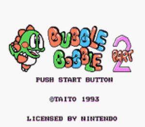 Thumbnail image of game Bubble Bobble 2