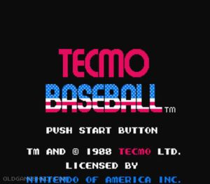 Thumbnail image of game Tecmo Baseball