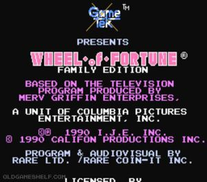 Thumbnail image of game Wheel of Fortune Family Edition