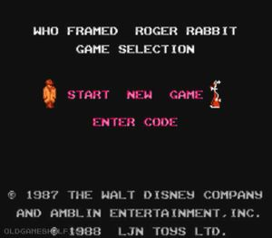 Thumbnail image of game Who Framed Roger Rabbit